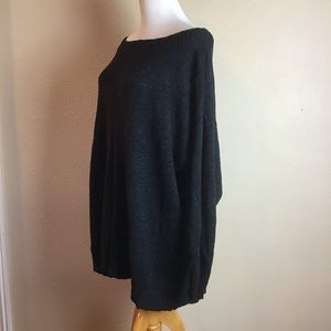 JustFab Sweaters - Just Fab oversized black boat neck sweater